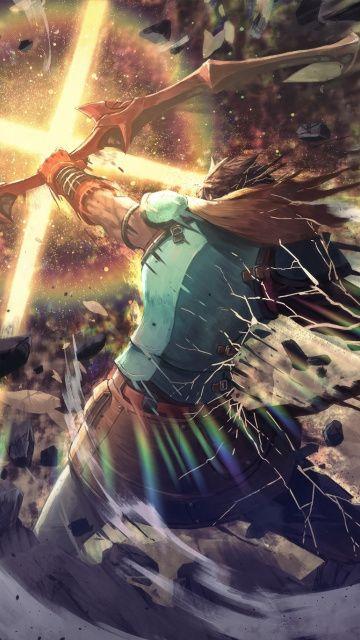 360x640 wallpaper Archer, warrior, fate/grand order, anime