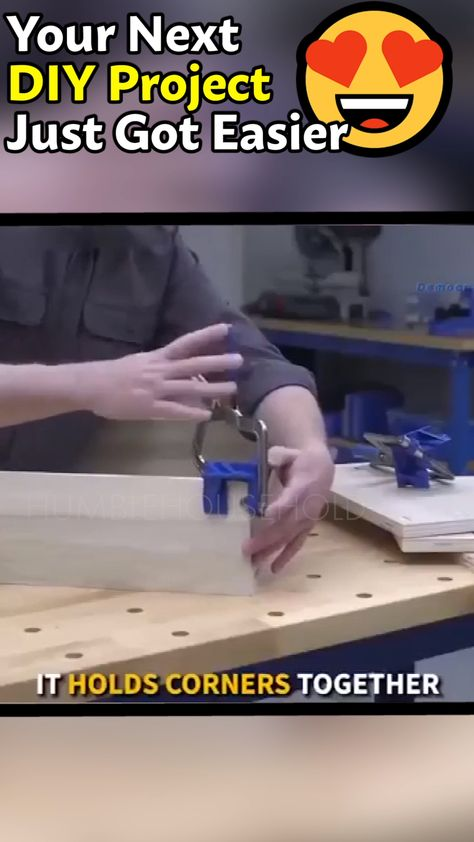 Simply slide your two pieces of wood you want to square up into the clamp and squeeze the grip together (effortless to squeeze, anyone can do it), after that double-check your corner and drill. It's that easy, no more propping the pieces together, multiple drill attempts or wasted effort and money.