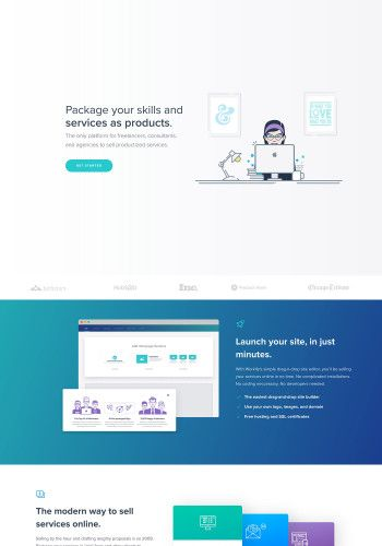 Business Landing Page Design Example By Workify Landing Page Design Landing Page Landing Page Examples