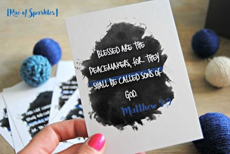 Police Office Bible Verses - Free Printable Cards // LEO // DIY Police Office Printables