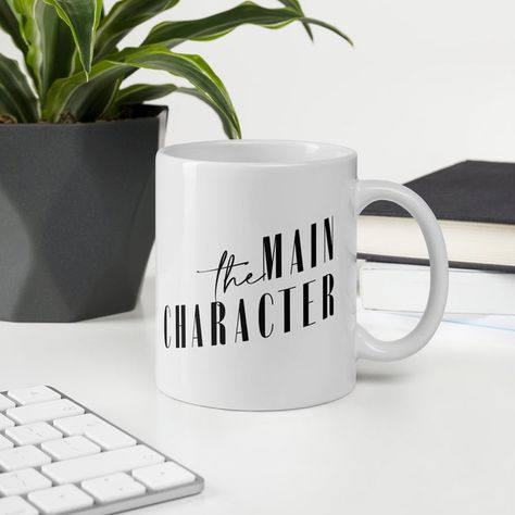 An iconic mug with an old Hollywood vibe mixed with late 80's, early 90's Miami. Because you are the main character. Whether you're drinking your morning coffee, evening tea, or something in between – this mug's for you! It's sturdy and glossy with a vivid print that'll withstand the microwave and dishwasher. #MainCharacter #EnergyMug #Mug