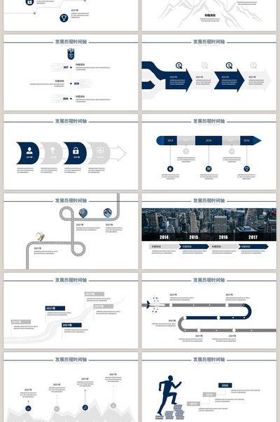 Business Company Development History Timeline Ppt Template