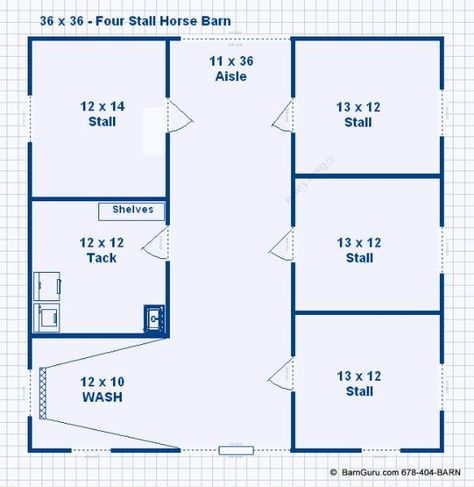 Barn Plans 4 Stall Horse Barn Plans Design Floor Plan Horse Barn Plans Barn Plans Horse Barn