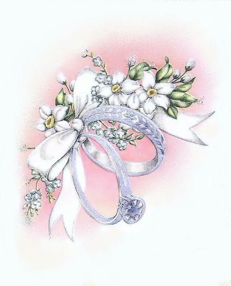 Винтаж на открытки свадебные
