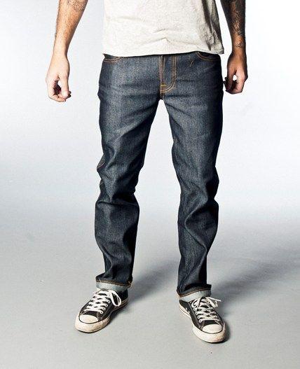 Nudie Men/'s Slim Fit Jeans Slim Jim Iron Grey Organic Denim