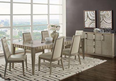 Sofia Vergara Delanco Pewter 5 Pc Dining Room Dining Room Sets