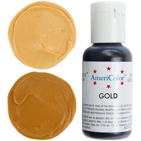Gold Gel Paste Food Coloring Americolor In 2019 Gold