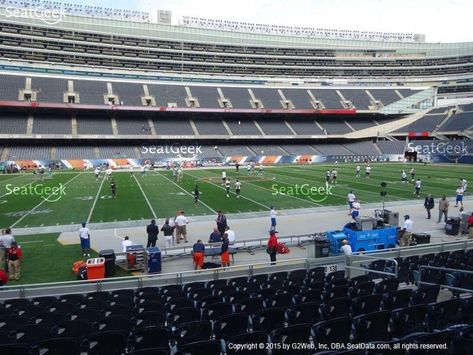 2 Sideline Tickets Chicago Bears vs TB Tampa Bay Buccaneers Soldier