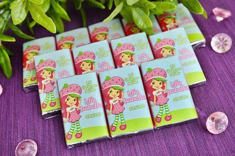 Chocolates Personalizados Tema De Rosita Fresita