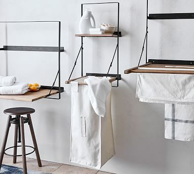 Trenton Laundry Bag Holder And Shelf In 2020 Furniture For Small