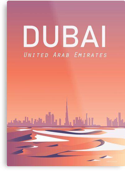 Art print POSTER Canvas Dubai vintage travel poster