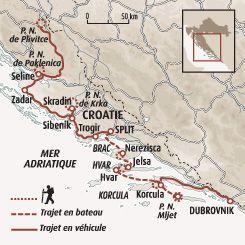 Circuit Carte Croatie Parcs Nationaux Et Iles Dalmates Croatie Circuit Croatie Vacances Croatie