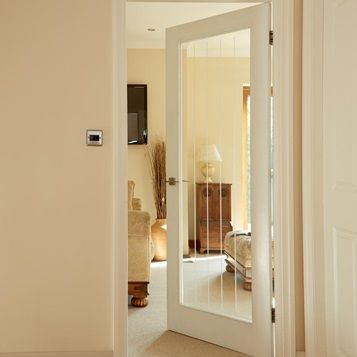 Make The Most Of Light And Space In Your Home With Our Dordogne Smooth Glazed Internal Door Interior Doors For Sale Internal Glass Doors