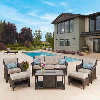 South Dakota 6 Piece Deep Seating Set, Clearance Patio Furniture Sets Costco
