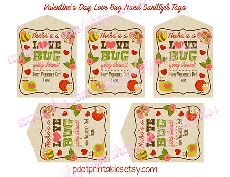 Fill In The Name Blank Valentine S Day Hand Sanitizer Tags