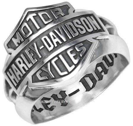 Men S Harley Davidson Heavy Bar And Shield Ring Sterling Silver Sizes 9 15 Hdr0195 Rings For Men Harley Davidson Rings Harley Davidson Jewelry