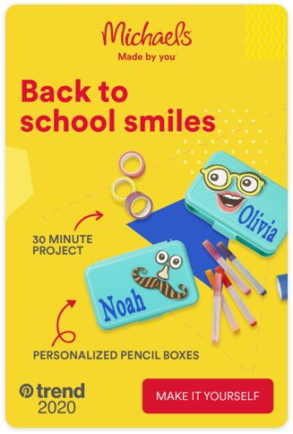 With Michaels, there are more back to school smiles. We've got everything you need to make the first day fun. Tap the Pin and see more.