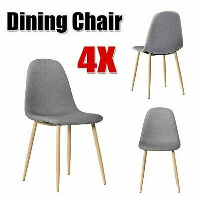 Advertisement Set Of 4 Dining Chair Pre Assembled Mid Century Modern Style Plastic Chair Gray Dining Chairs 4 Dining Chairs Modern Style Chairs