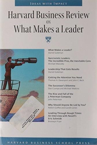 Harvard Business Review on What Makes a Leader Daniel Goleman - business review