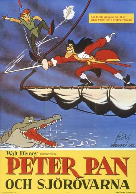 Throwback Thursday: Peter Pan's Posters Sweden Poster via sho buz