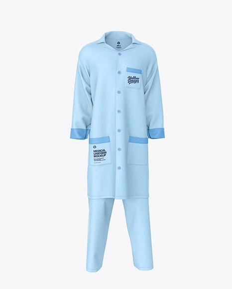 Medical Uniform Mockup Front View In Apparel Mockups On Yellow Images Object Mockups In 2021 Clothing Mockup Medical Uniforms Uniform