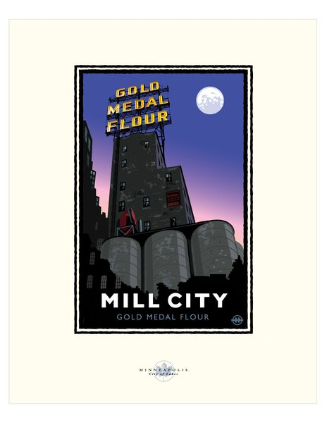 Landmark Series | MN Mill City Night by Mark Herman