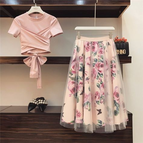 🔝HIGH QUALITY Women Irregular T Shirt+Mesh Skirts Suits Bowknot Solid Tops Vintage Floral Skirt Sets Elegant Woman Two Piece Set🔝  Price: $ 31.98 & FREE Shipping  #jewelryaddict #fashiondiaries #accessoryhit #beauty #scarf #fashion #silk #accessories