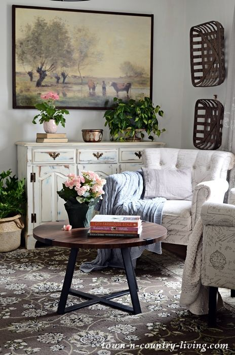 Modern Country Home Tour Spring 2019 Town Country Living Modern Country Decor French Country Living Room Country Style Living Room