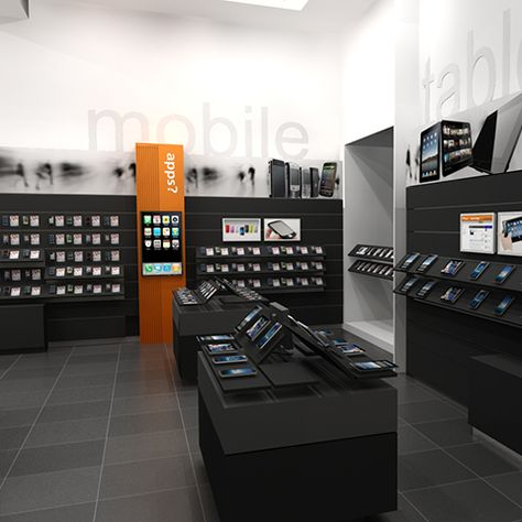 Mobile Cell Phone Retail Store Design Display Racks Iphone Htc Samsung