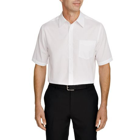 Short Sleeved Dress Shirt White L