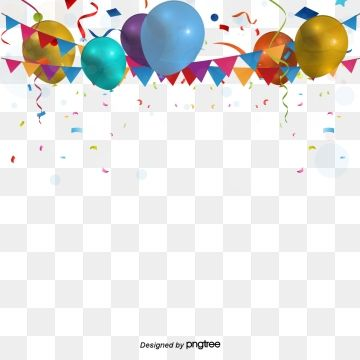 Celebration Background Colored Decorations Balloon Png