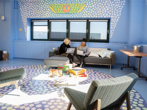 At Facebook's Manhattan location, workers can kick back and play one of the board games sprinkled throughout the office.
