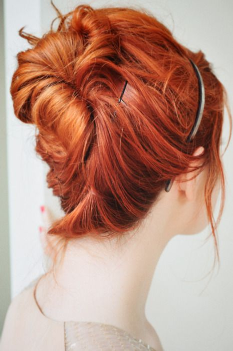 messy french twist | pretty colors