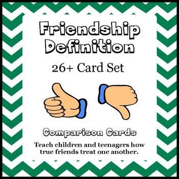 Social Skills: Friendship Definition Card Set   The Helpful
