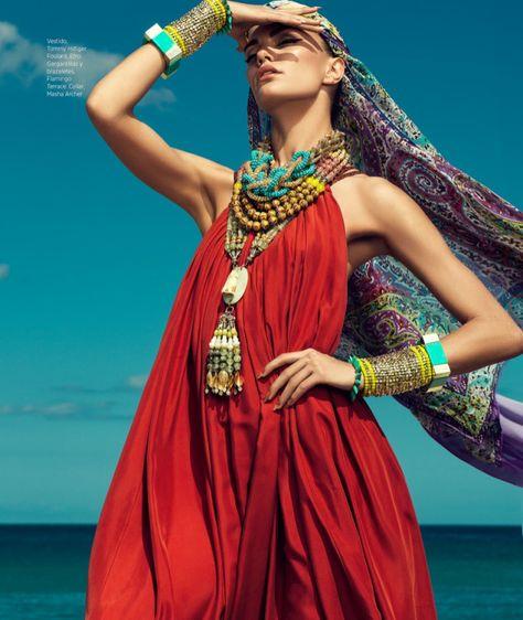 DannyCardozo BarbaraFialho HB 06 Barbara Fialho Models Beach Style for Harpers Bazaar Mexico by Danny Cardozo
