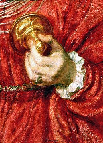 Dante Gabriel Rossetti The Loving Cup Detail Model Alexa