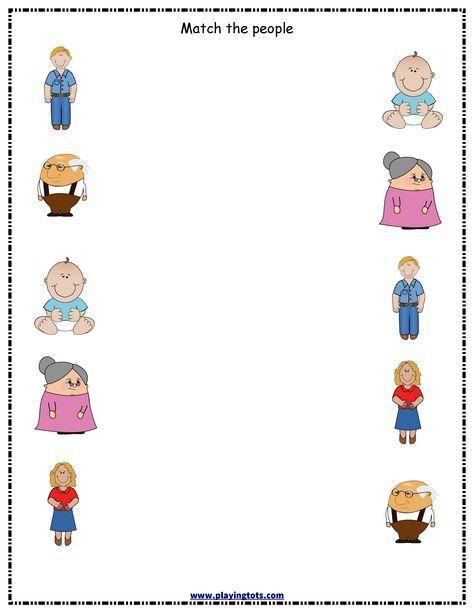 Worksheet,people,family,free,printable,toddler,preschool,kid,file Folder  Bookmarks Kids, Kindergarten Worksheets, Family Worksheet