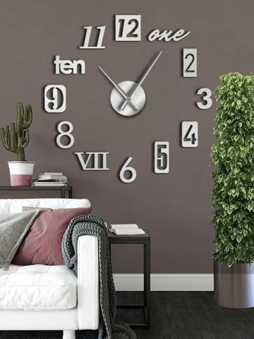 Mixed Style 3d Wall Clock Decal Diy Clock Wall Wall Decal Clock Clock Wall Decor