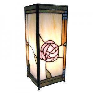 27CM TIFFANY STYLE TABLE LAMP SQUARE