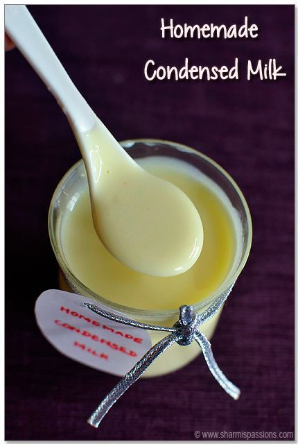 Homemade Condensed Milk Recipe How To Make Condensed Milk At Home Sharmis Passions Homemade Condensed Milk Condensed Milk Recipes Milk Recipes