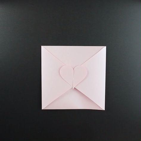 Herzkuvert basteln für Muttertag oder zur Hochzeit