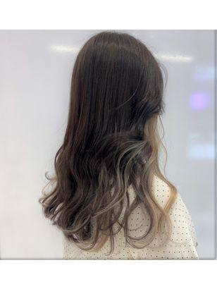 2020年冬 ロング インナーカラーの髪型 ヘアアレンジ 人気順 11