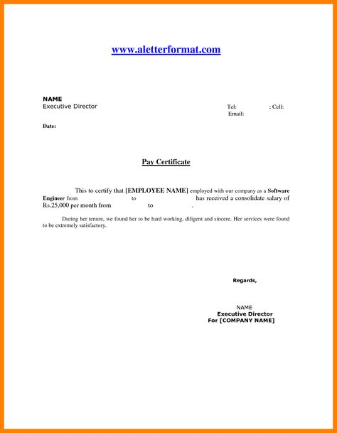 salary certificate request letter event sponsorship sample format - pay certificate sample