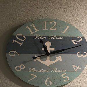 Beach Clock Personalized Beach Clock Etsy Beach Time Clock Clock Wall Clock