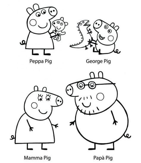 30 Printable Peppa Pig Coloring Pages You Won T Find Anywhere Peppa Pig Coloring Pages Peppa Pig Colouring Kids Printable Coloring Pages