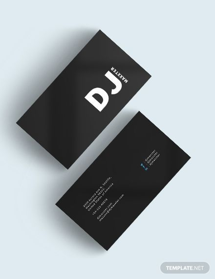 Modern Dj Business Card Template Dj Business Cards Business Card Template Design Make Business Cards
