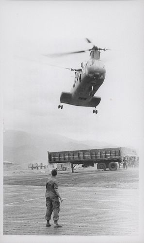 CH-46 Sea Knight Helicopter Landing, 1969