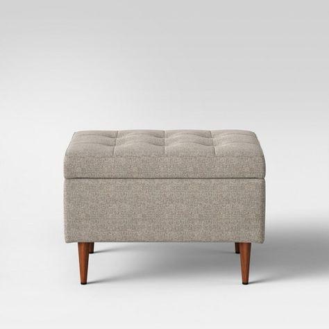 Groovy Project 62 Lemoor Mid Century Ottoman With Storage Project Inzonedesignstudio Interior Chair Design Inzonedesignstudiocom