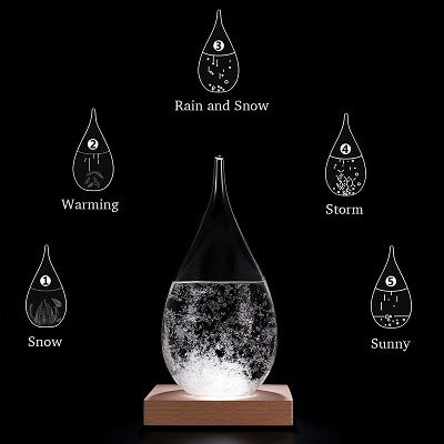 Storm-Glass Bottle Weather Forecaster Barometer Large Crystal Water Home Decor
