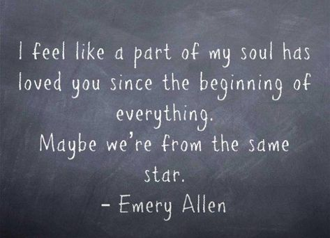 A part of me has always loved you.  Eternal love.